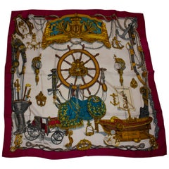 Hermes Silk Scarf  Musee by Le Doux