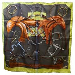"Hermes Silk Scarf "" Projets Carrés "" by  Henri d'Origny 2007"