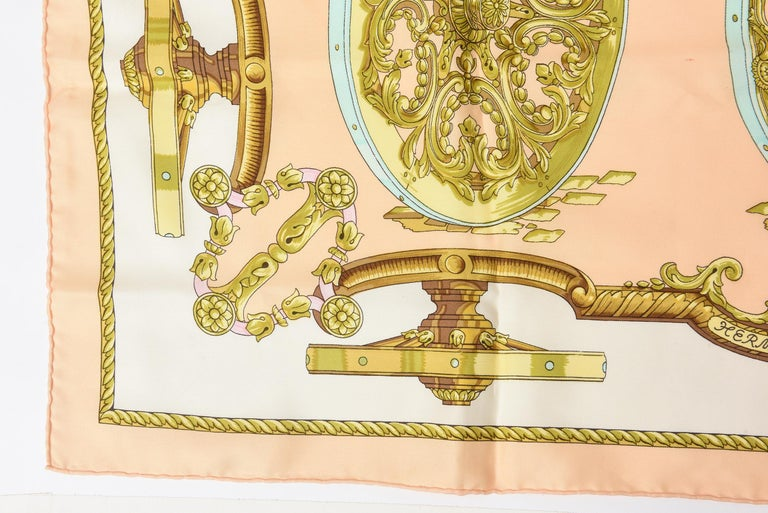 Hermes Silk Scarf Vintage In Good Condition For Sale In North Miami, FL