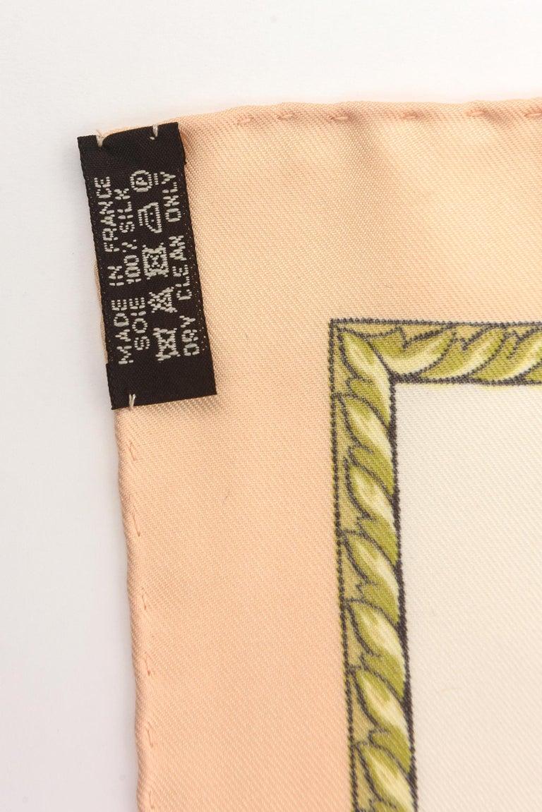 Hermes Silk Scarf Vintage For Sale 4