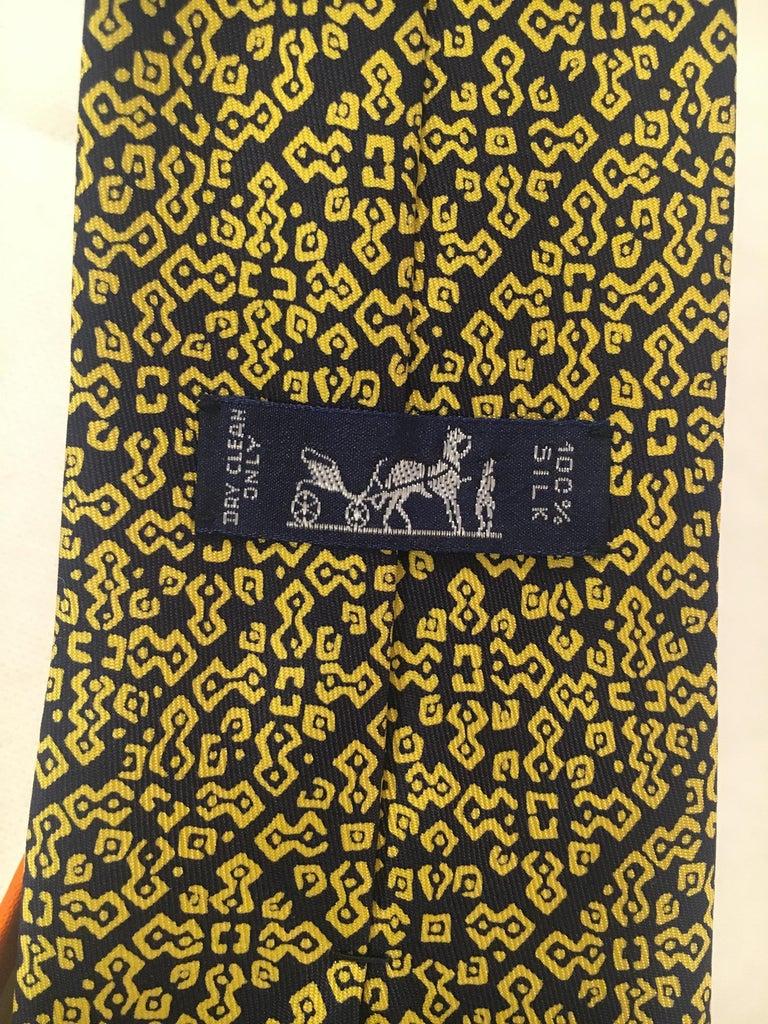 Brown Hermes Silk Tie For Sale