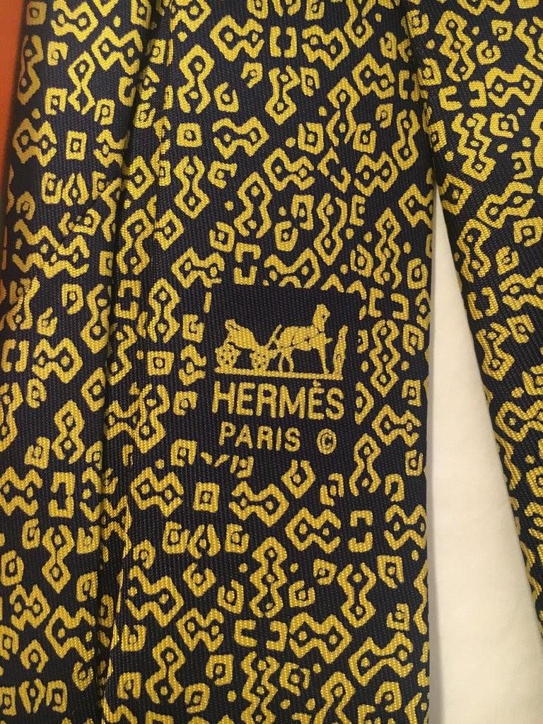 Hermes Silk Tie In New Condition For Sale In Paris, Paris