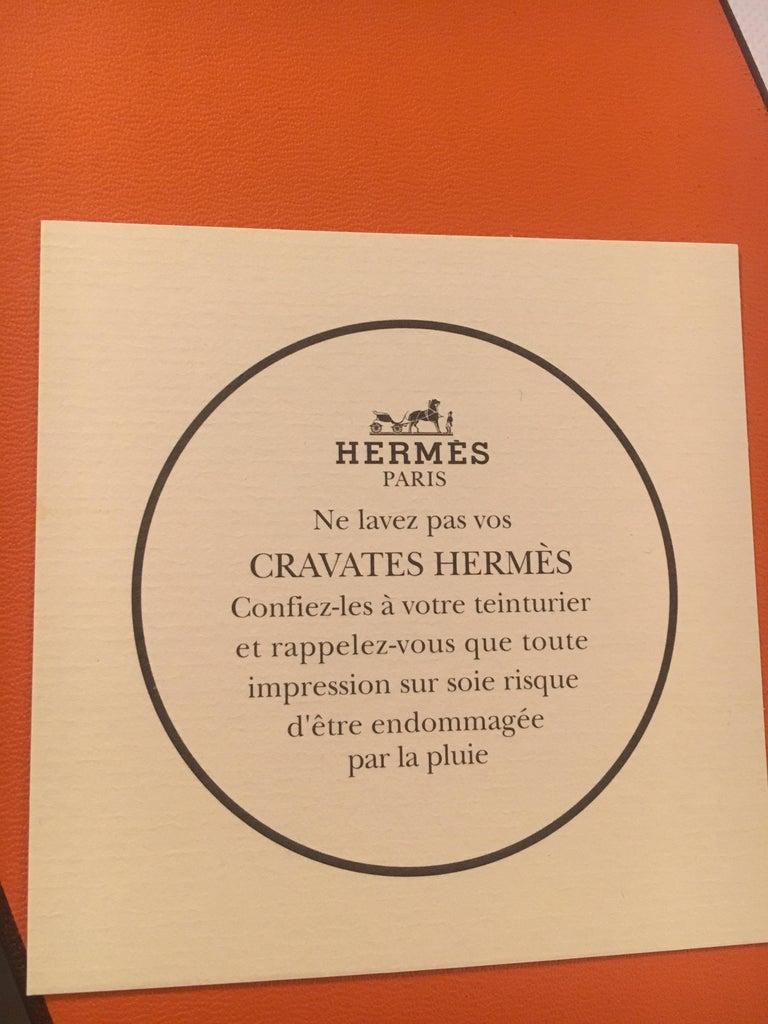 Men's Hermes Silk Tie For Sale