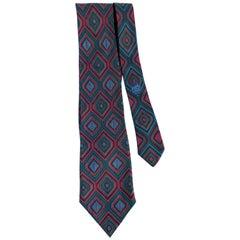Hermès SIlk Tie with Diamond Pattern