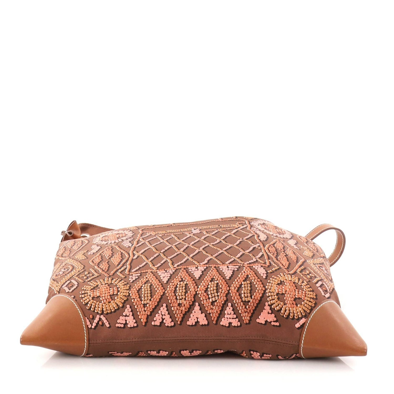 194fc107d445 Hermes Silky City Handbag Printed Silk and Leather PM at 1stdibs