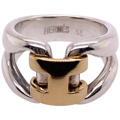 Hermès Silver and Gold Ring