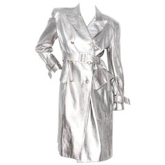 Hermès Silver Leather Trench