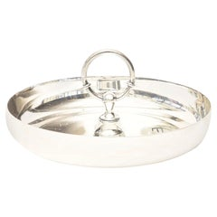 Hermès Silver Plate Double Bridle Post Tray Vintage Barware