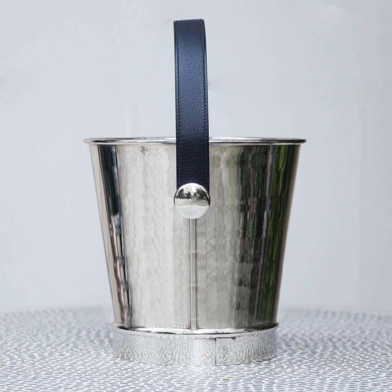 Hollywood Regency Hermes Silver Plated Champagne Cooler, 1980 For Sale