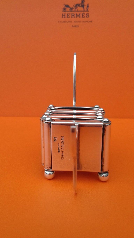 Hermès Silver Plated Dachshund Shaped Photos Frame Holder Vintage RARE 8