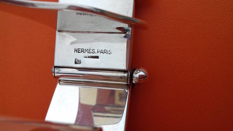 Hermès Silver Plated Dachshund Shaped Photos Frame Holder Vintage RARE 14