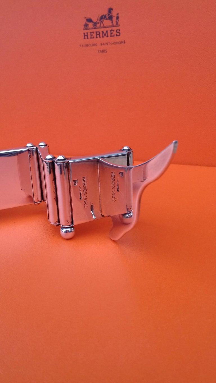 Hermès Silver Plated Dachshund Shaped Photos Frame Holder Vintage RARE 2