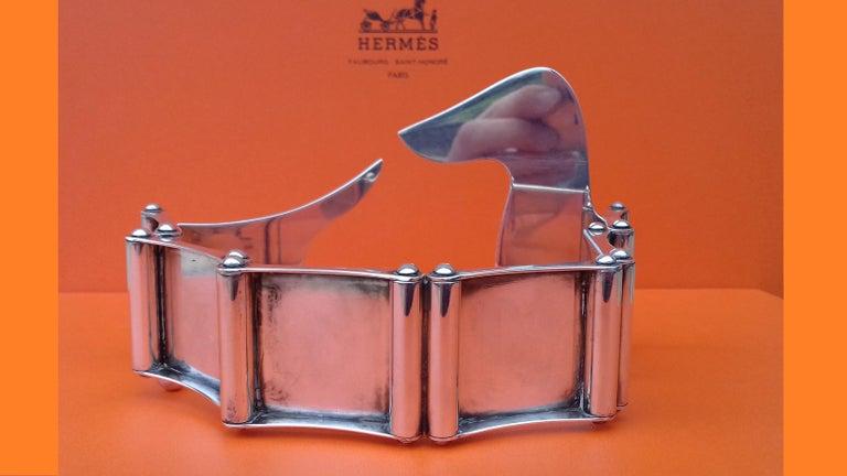 Hermès Silver Plated Dachshund Shaped Photos Frame Holder Vintage RARE 3