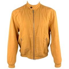 HERMES Size M Tan Linen Zip Up Jacket
