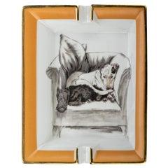 Hermès Sleeping Dogs Porcelain Ashtray