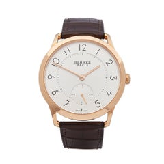 Hermes Slim D'Hermes 18k Rose Gold W041762WW00 Wristwatch
