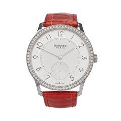 Hermes Slim D'Hermes Stainless Steel W043201WW00 Wristwatch