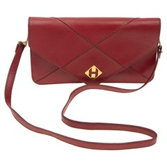 Hermes Small Bag or Clutch In Red Leather