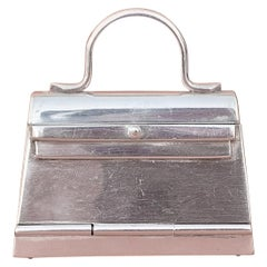 Hermès Smallest Mini Kelly Bag Ever Pill or Photo Box Sterling Silver RARE