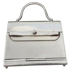 Hermès Smallest Mini Kelly Bag Ever Pill or Photo Box Sterling Silver RARE