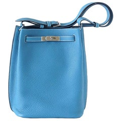 Hermes  So Kelly 26 Bag Blue Jean Tote Shoulder bag