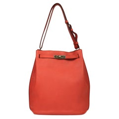 Hermès, So Kelly in red leather