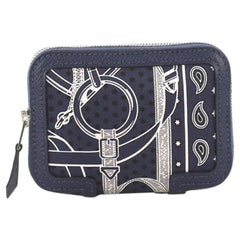 Hermes Soie Cool Wallet Printed Silk and Epsom Compact