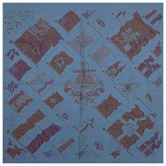 Hermes soldier blue PAVOIS 90 SURTEINT / DIP DYEsilk Scarf