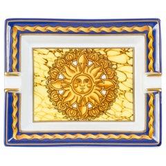 Hermès Soleil Blue Porcelain Ashtray