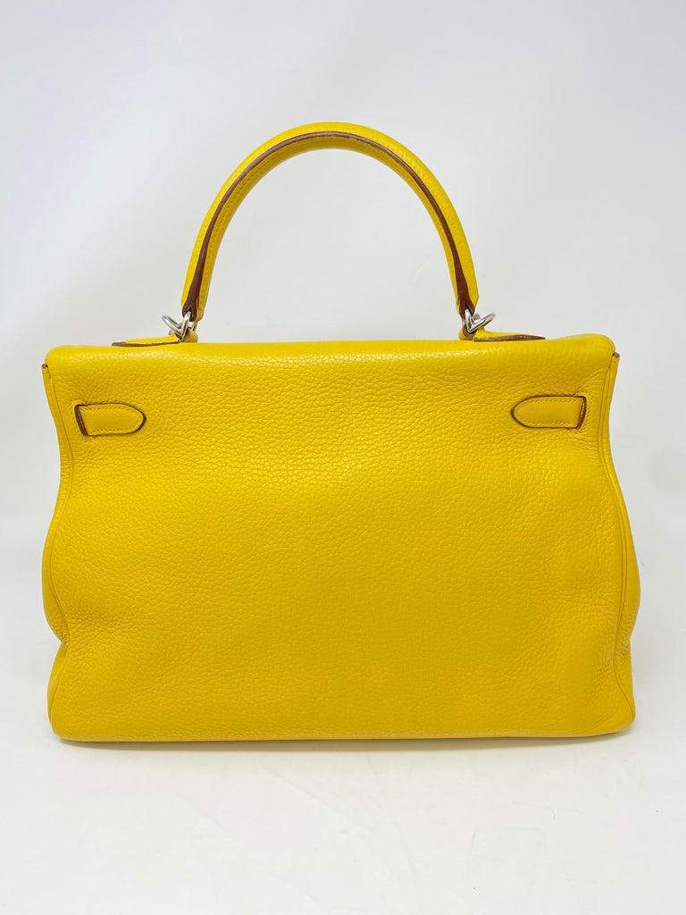 Hermes Soleil Yellow Kelly Bag  For Sale 6