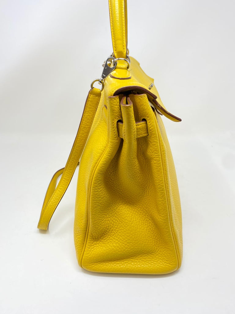 Hermes Soleil Yellow Kelly Bag  For Sale 7