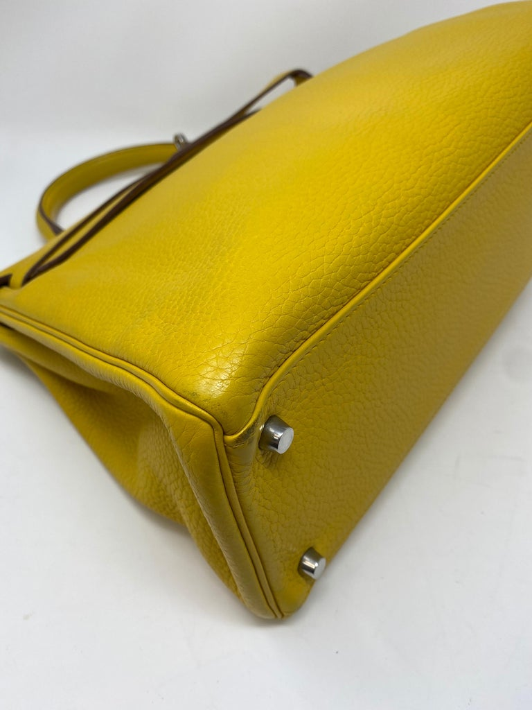 Hermes Soleil Yellow Kelly Bag  For Sale 9