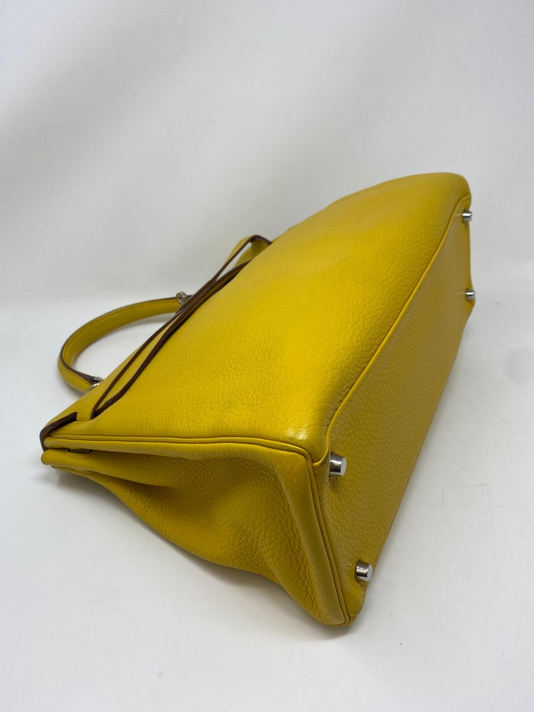 Hermes Soleil Yellow Kelly Bag  For Sale 10