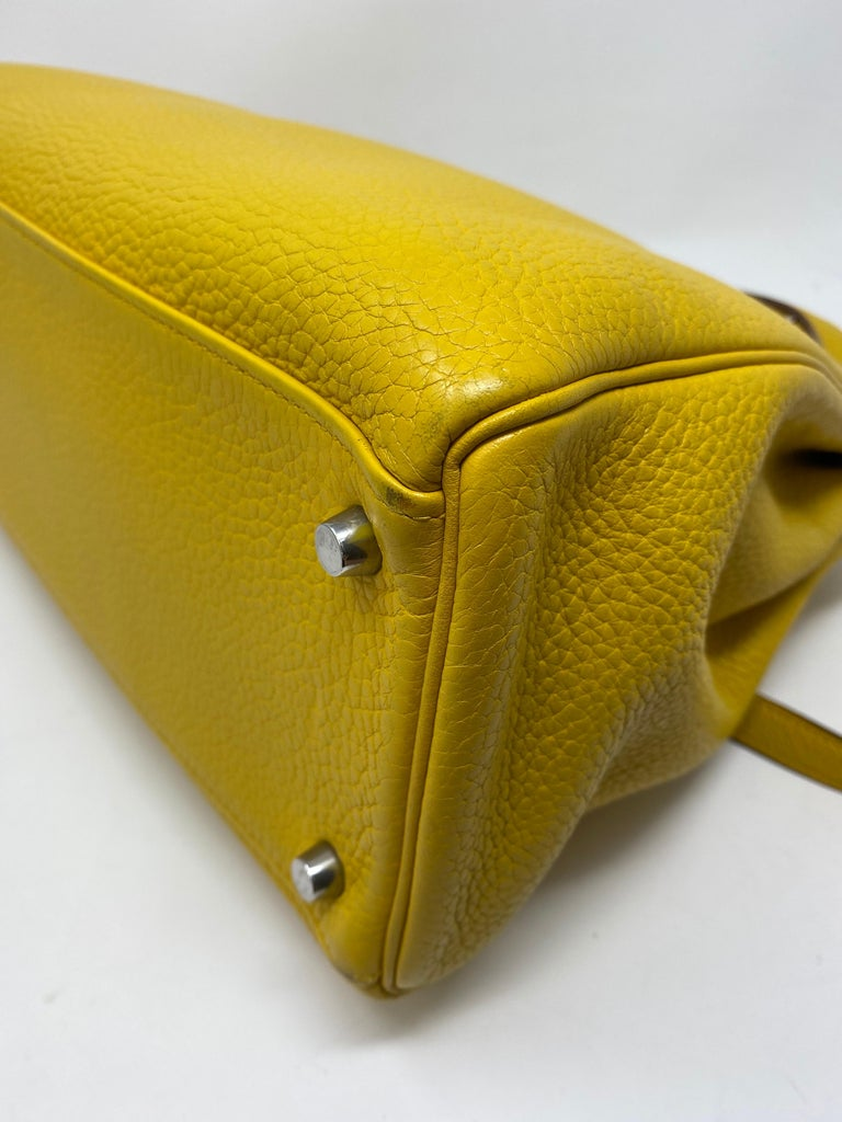 Hermes Soleil Yellow Kelly Bag  For Sale 11