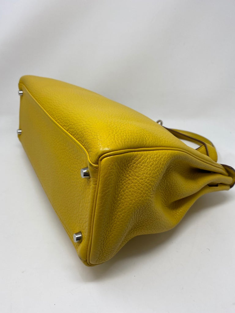 Hermes Soleil Yellow Kelly Bag  For Sale 12