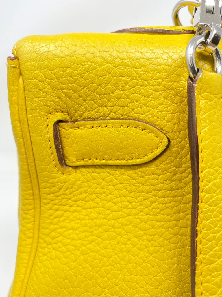 Hermes Soleil Yellow Kelly Bag  For Sale 13