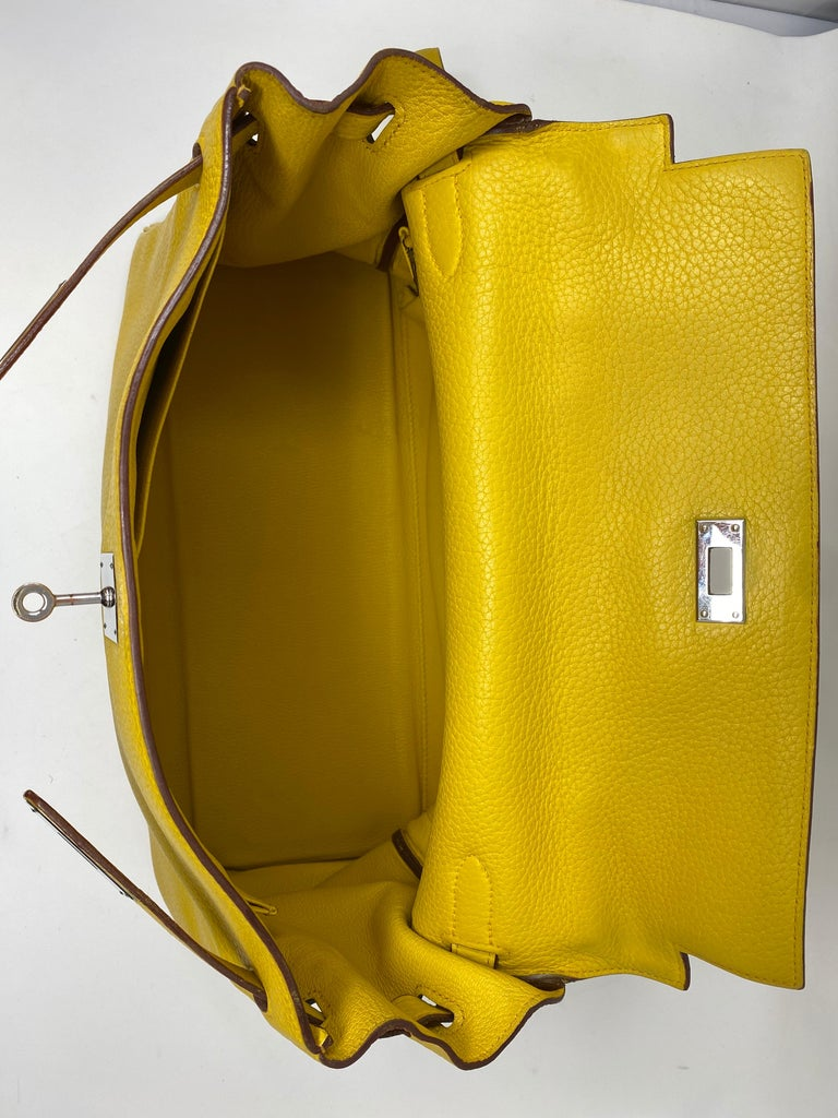 Hermes Soleil Yellow Kelly Bag  For Sale 14