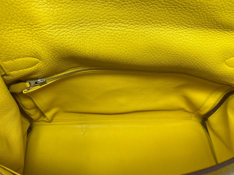 Hermes Soleil Yellow Kelly Bag  For Sale 15