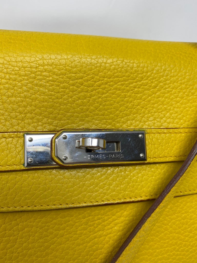 Hermes Soleil Yellow Kelly Bag  For Sale 1