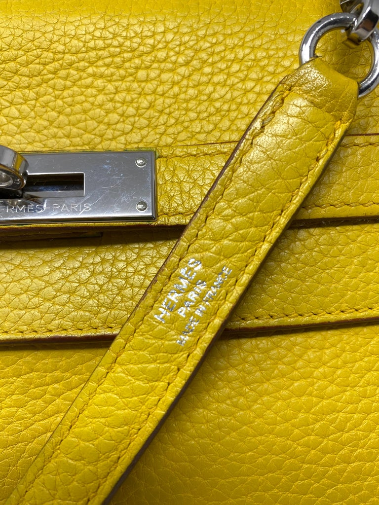 Hermes Soleil Yellow Kelly Bag  For Sale 2