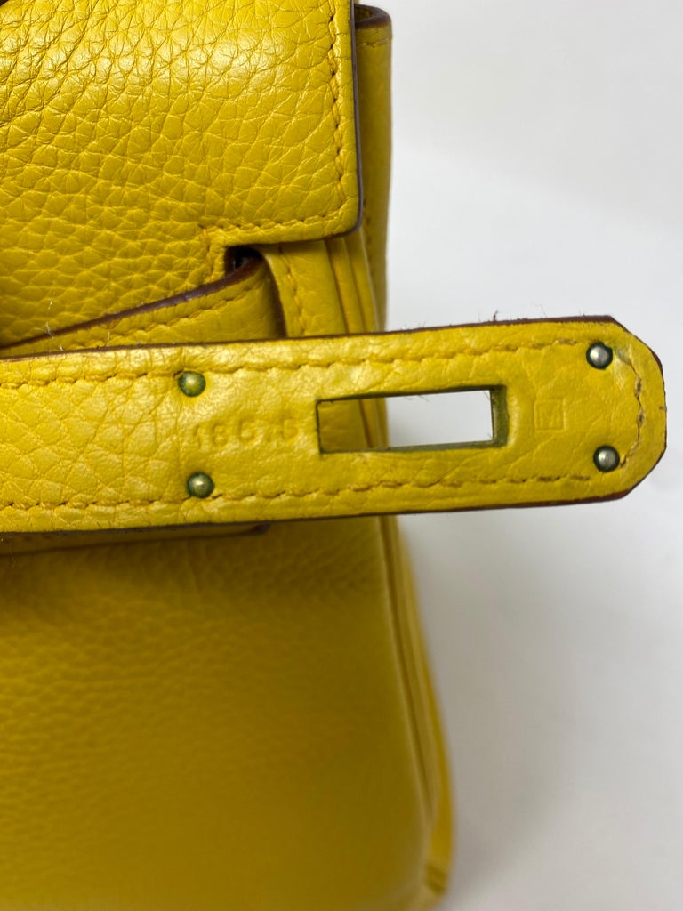 Hermes Soleil Yellow Kelly Bag  For Sale 3