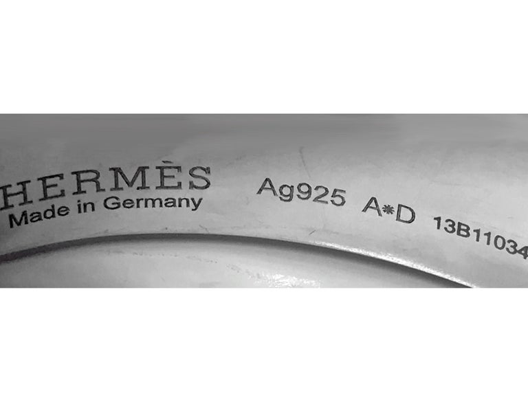 Hermes Solid Silver Collier de Chien Bracelet For Sale 1