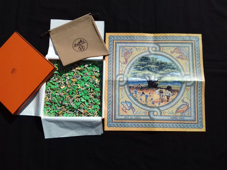Rare and Beautiful Hermès Puzzle  Created for the Year of the Tree in 1998  Depicts the pattern