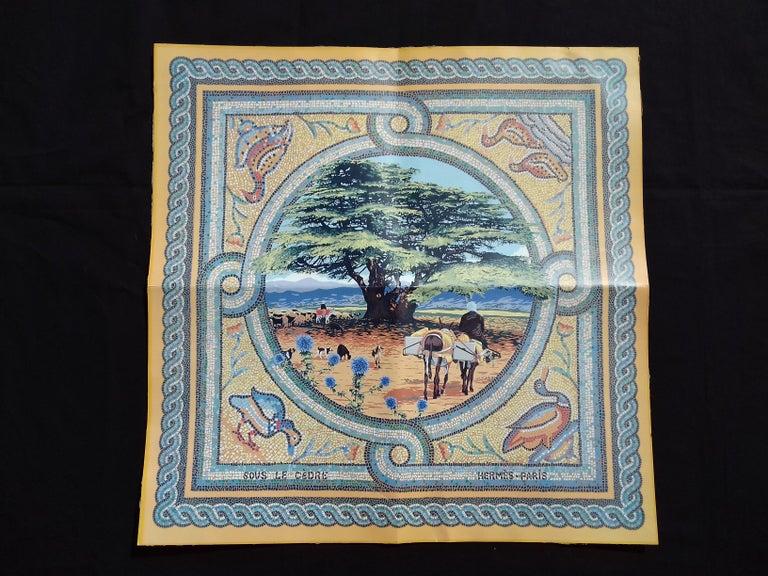 Hermès Sous le Cèdre Dimitri Rybaltchenko Wooden Puzzle  For Sale 2