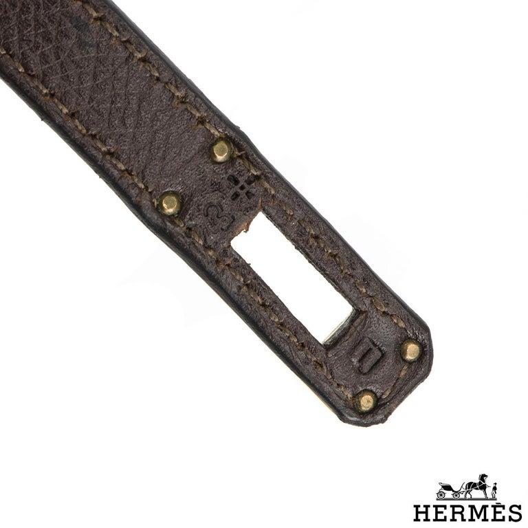 Hermès Special Order Kelly Bi Colour 25cm Chocolate / Orange H Epsom Handbag For Sale 1