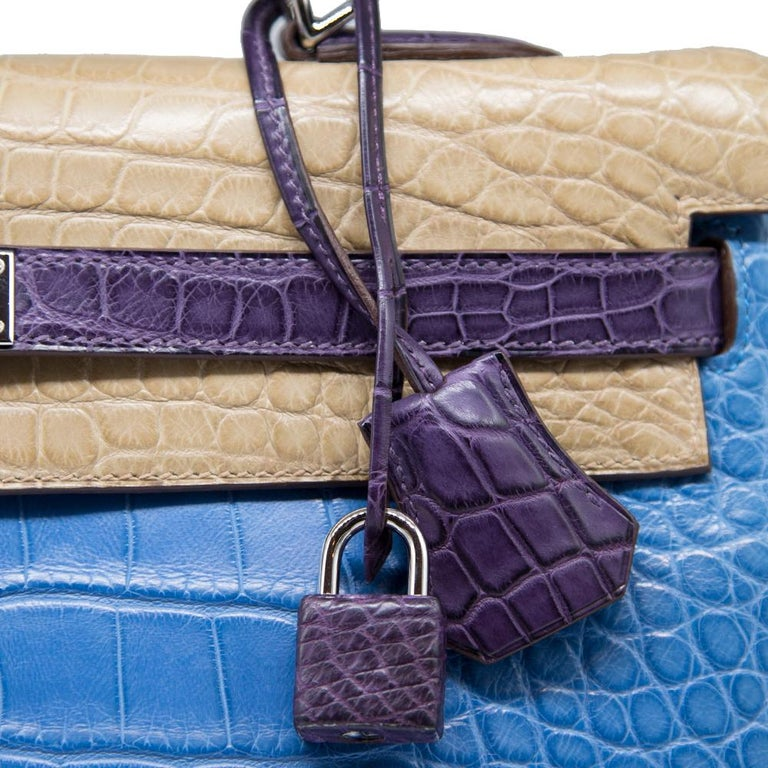 Hermès Special Order Tri-Colour Leather 35cm Kelly Bag For Sale 5