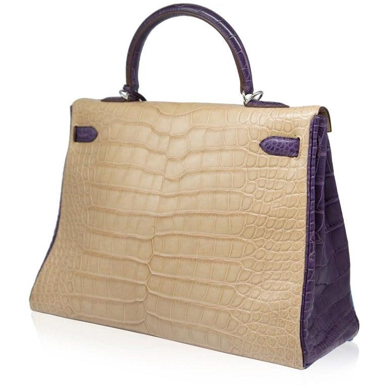 Women's Hermès Special Order Tri-Colour Leather 35cm Kelly Bag For Sale