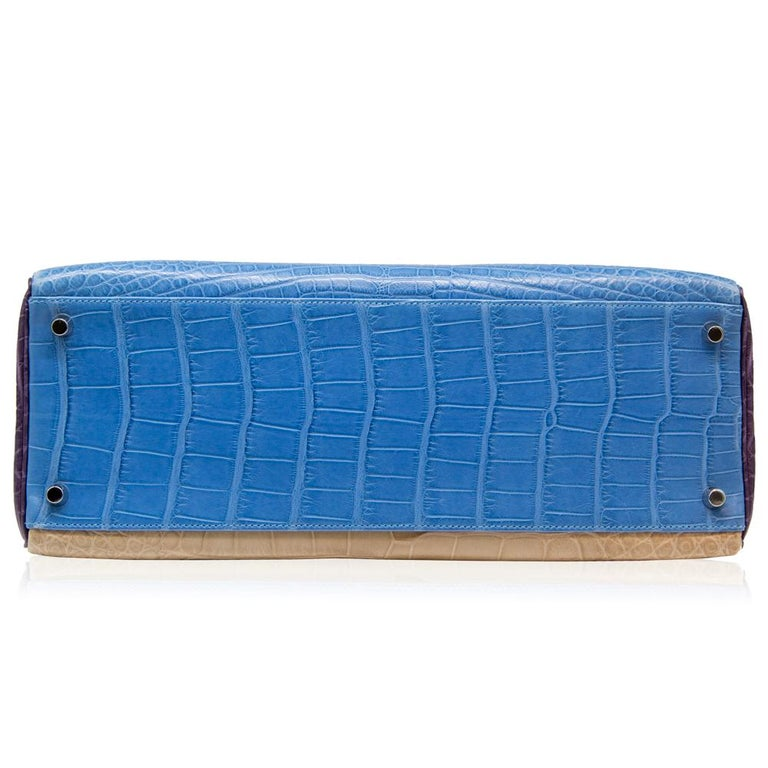 Hermès Special Order Tri-Colour Leather 35cm Kelly Bag For Sale 3