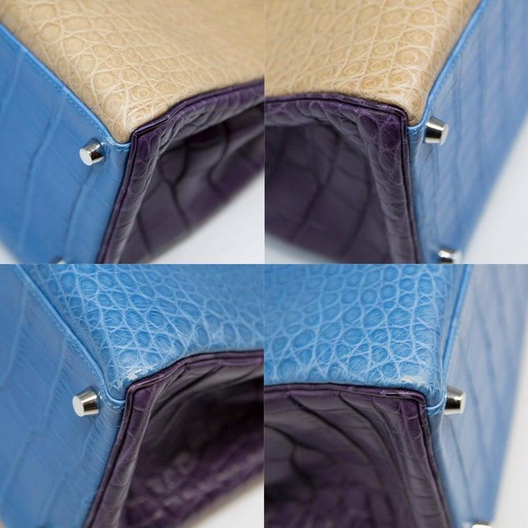 Hermès Special Order Tri-Colour Leather 35cm Kelly Bag For Sale 4