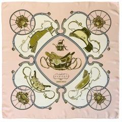 Hermès Springs Pink Silk Scarf